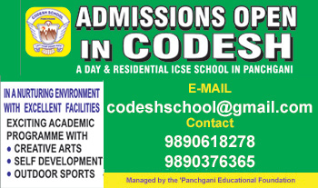 Admissions open in CODESH School, Panchgani.